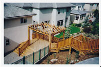 Hard Landscaping- Outdoor Living Spaces- Decks and Fences!