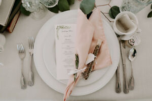 WEDDING SALE: Napkins, Tablecloths, Chargers, Glasses, Candles