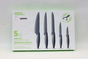 5PC stainless steel knife set by Everyday Essentials(19420-1)