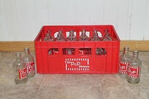Vintage Pop Shoppe bottles & crate