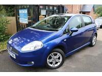 2007 Fiat Punto 1.4 DYNAMIC SPORT Blue 5 Door Long MOT Low Miles Sunroof Finance