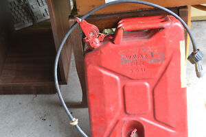 VINTAGE Wajax Fuel Tank Jerry Can - 5 Gallon - Tested & NO LEAKS