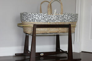 Jolly jumper rocking stand and Moses basket