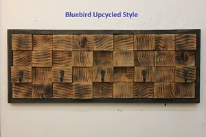 Handcrafted reclaimed charred wood coat rack