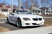 RARE WHITE ON BLACK BMW M6 Convertible!!