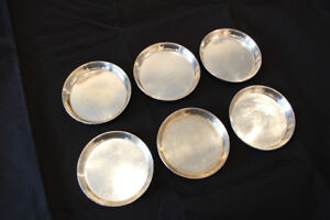 6 VTG Carl Poul Petersen Canadian Sterling Silver Coasters Dish