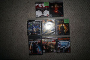 Playstation 3 80GB, 2 Controllers, 8 Games + cables.