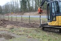 Excavating and Bobcat Services, post pounding