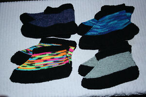 Hand Knit Slippers, washable