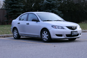 2005 Mazda 3 silver Carproof! snow tires low Km Mint! Must see