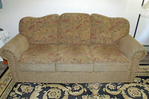 Sofa with matching cushions Made in Canada non-smoking/no pets
