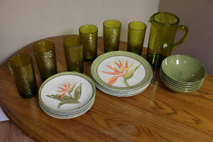 Plates, bowls, cups, pitcher, ALL NEW