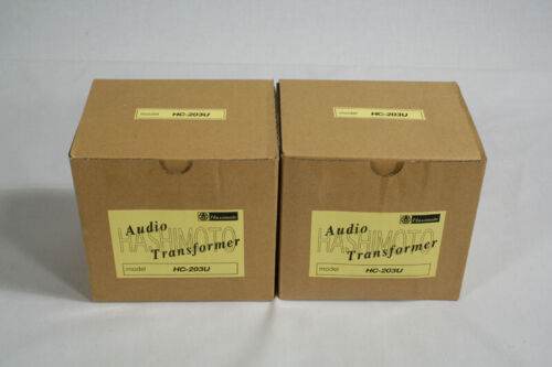 A pair of Hashimoto Single-Ended Output Transformers HC-203U for 2A3 300B EL34