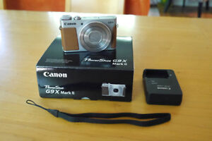 Canon G9X Mark II in perfect condition. 1 month old