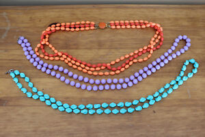 Vintage Necklaces - Sarah Coventry - Great Spring Colours