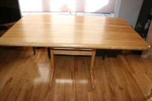 Solid Wood Kitchen Set (Table + 4 Chairs)