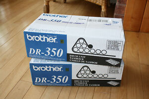 2 New, Brother DR-350 Toner Cartridge Drum Kit