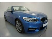 2015 BLUE BMW M235i 3.0 T SPORT CONVERTIBLE 2DR AUTO CAR FINANCE FR £273 PCM