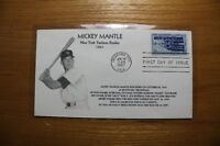 Mickey Mantle Rookie 1951 First Day Cover Original