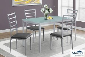 Brand NEW Silver Metal Dinette Set! Call 780-437-0808!