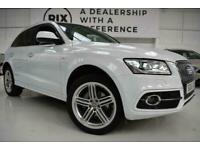 2015 R AUDI Q5 2.0 TDI QUATTRO S LINE PLUS 5D-2 OWNERS FROM NEW-BLACK LEATHER-BL for sale  Warrington, Cheshire