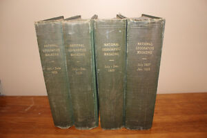 Old National Geographic Magazine - Bound 1923 and 1928 London Ontario image 1
