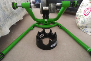 Kinetic Rock and Roll Turbo Trainer with Riser Ring and Tire
