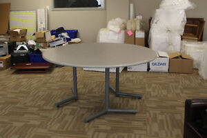 Gently Used 5' Round Grey Office Table (3 AVAILABLE!)