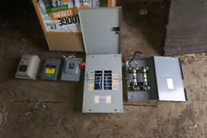 125A with BREAKERS!!! Electrical panel and shut off switches