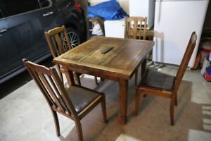 Antique Drop Leaf Table and Chairs