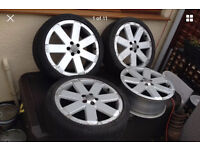 "Audi Oem V6 RS 18"" 7.5j RARE Alloys vag Item 5x100 Direct Fit To Mk4 Golf Bora"