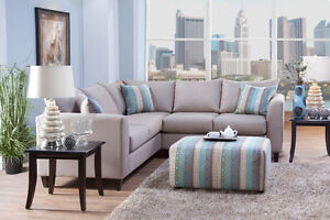 HOMETOWN- Modern Line Designed Sectional w/ Ottoman