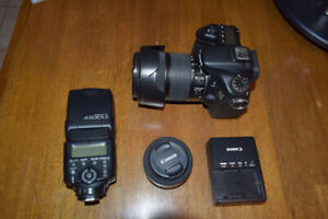 Canon 70D with 18-135 + 40mm + 430EX II bundle