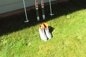 Cross Country Nordic Skis  complete with poles and Soloman boots