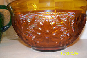 COLLECTION OF SANDWICH PATTERN DEPRESSION GLASS