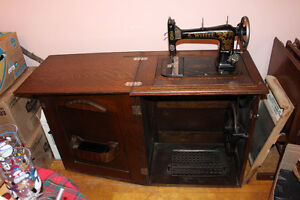 Antique Canadian White Sewing Machine