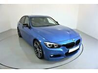 2018 BLUE BMW 330e 2.0 M SPORT SHADOW EDITION HYBRID CAR FINANCE FR £418 PCM