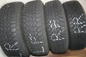 Good Year Winter Tyres with Universal Rim and Pressure sensor