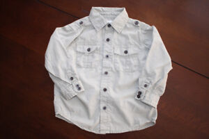 Long Sleeve Button Up Khaki Shirt- never worn- 3T&4T Avail.