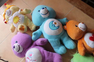 Care Bear set of 6 including cousin rabbit