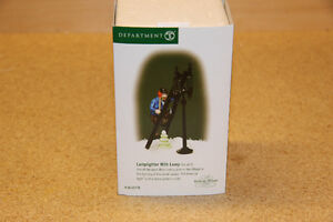 DEPT 56 DICKENS VILLAGE SERIES, LAMPLIGHTER WITH LAMP
