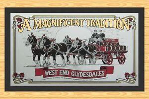 WEST END  BREWING COMPANY  CLYDESDALE  HORSES  BAR RUNNER  BAR MAT