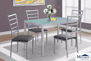 Silver Metal 5PC Dinette