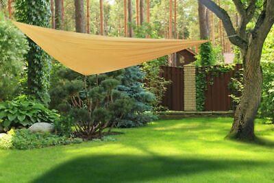 Toldo Parasol Protección Solar Paravientos Sol Jardín Terraza Poliéster Beige