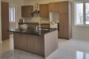 Kitchen Cabinets and Granite Counter top with large Island