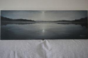 Tableaux (oil on canvas)  Lac L'Assomption, signés