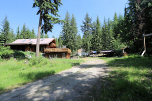 Secluded 8 Acre Property with Log Home