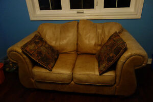 Natural Leather couch