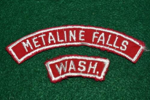 VINTAGE  BOY SCOUT  - RED & WHITE TOWN STRIP - METALINE FALLS, WASH
