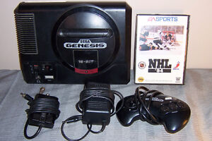 16 Bit Sega System Complete Tested with NHL 94